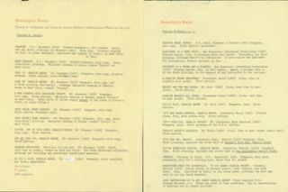 Typed List of Charles M. Schulz Works at Serendipity Books. Tom Goldwasser, Berkeley Serendipity...