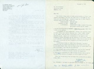 Correspondence between book collector Zbigniew Lewicki & Thomas A. Goldwasser. Zbigniew Lewicki,...
