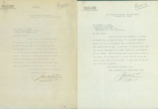 Two Typed Letters Signed by John B. Farish to Edward O'Day, October, 1923. RE: Grove play, The...