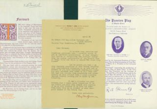 Typed Letter Signed by Clay M. Greene to Edward O'Day & others, April 25, 1923. RE: production of...