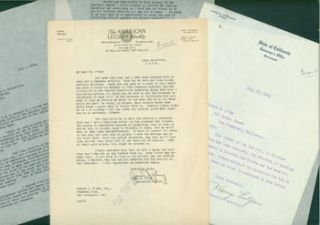 Correspondence Between James N. Young (American Legion Weekly), the office of Friend William...