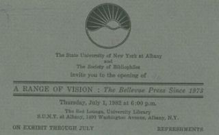 The State University of New York at Albany and The Society of Bibliophiles invite you to the...