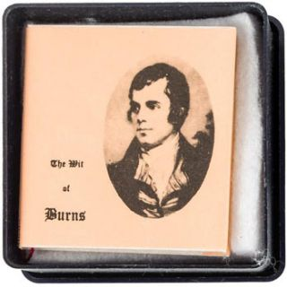 The Wit of Burns. Paper jacket. Numbered 128 of 500 copies. . Ian Macdonald, Robert Burns