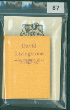 David Livingstone. 1 of 200 copies [#87]. . Ian Macdonald