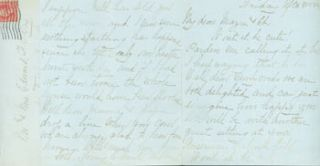 MS Letter by the Auntie and Uncle of Edward Francis O'Day, to Edward & Mazie O'Day, Friday...