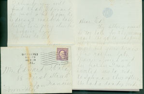 MS Letter by Mazie Cook O'Day to Edward O'Day, August 18, 1918. RE: letter from Edward O'Day's...