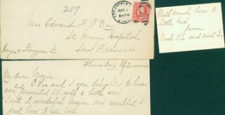 MS Letter to Mazie O'Day, Aug. 2, 1917, from her Uncle Vic and Aunt G[erd?], at St. Mary's...