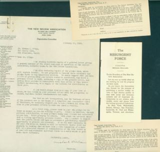 Typed Form Letter Signed by Michael Williams on New Review Association letterhead to Edward...