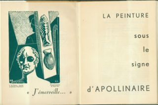 La Peinture Sous le Signe D'Apollinaire. Numbered 401 of 1000. Giorgio De Chirico woodcut facing...