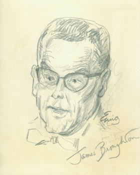 James Broughton. Pencil Sketch. Signed by Artist & Subject. Eurig?, San Francisco North Beach...