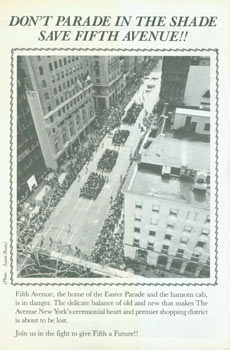 Don't Parade In the Shade, Save Fifth Avenue!! Save The Avenue, Laura Rosen, Ezio Petersen, John...