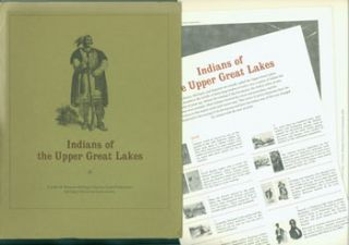 Indians of the Upper Great Lakes. Series of prints illustrating how the Indians lived before the...