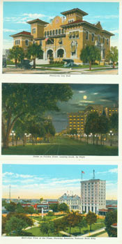 Souvenir Folder of Pensacola, Fla. Curt Teich, Co, Chicago