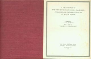 A Bibliography of the First Editions of Books & Pamphlets (Published And Privately Printed) By...
