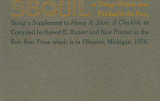Sequil: Or Things Whitch Aint Finished in the First. Being a Supplement to Henry A. Shute: A...