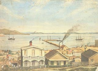 Seasons Greetings. Antoinette and Warren Howell. 1850s Painting of San Francisco attributed to...