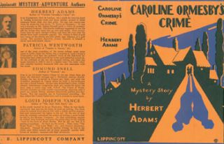 Caroline Ormesby's Crime. Dust Jacket for Original First Edition. Herbert Adams