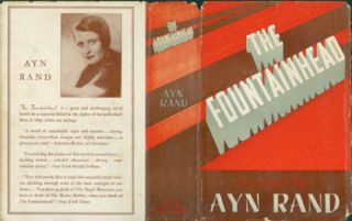 The Fountainhead. Second Issue Dust Jacket with price ($3.00) listed on flap inside cover,...