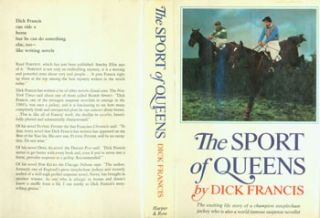 The Sport Of Queens. Dust Jacket for First US Edition, price ($5.95) on flap inside cover. Dick Francis, Muriel Nasser, jacket design.