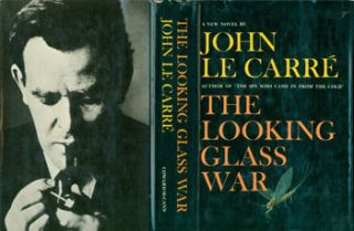 The Looking Glass War. Dust Jacket for First US Edition, price ($4.95) on flap inside cover. John Le Carre, Janet Halverson, jacket design.