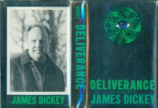 Deliverance. Dust Jacket for Original US First Edition, price ($5.95; code 0370) on flap inside cover. James Dickey, Paul Bacon, jacket design.
