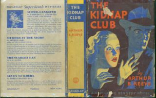 Dust Jacket for The Kidnap Club. Price of $2.00 on flap. Arthur B. Reeve