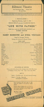 """Life With Father"" Made into a play by Howard Lindsay and Russel Crouse, with Harry Bannister and..."