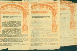 Business Proclamations Supporting the 1915 Panama-California Exposition San Diego: Santa Barbara...