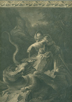 Engraving After Jason Charming The Dragon (ca. 1665-1670). John Boydell, After Salvator Rosa,...