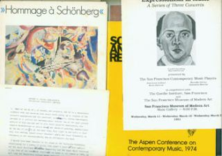 Dossier related to Arnold Schoenberg from Peter Selz Files, including: Report On Jelena...