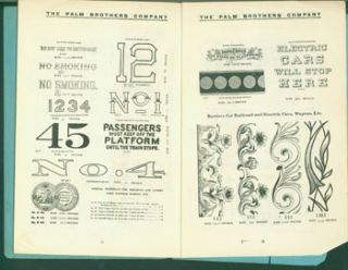 Palm's Transfer Ornaments, Trade Designs, &c. Illustrated Sample Book & Price List. Palm Brothers...