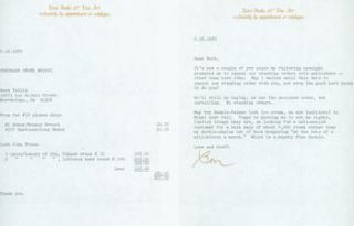 TLS Ben Sackheim to Herb Yellin, June 16, 1983. RE: Baskin, Abbey. Second Sheet with Purchase...