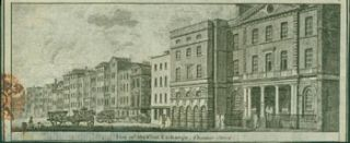 View Of The Coal Exchange, Thames Street. 18th Century British engraver