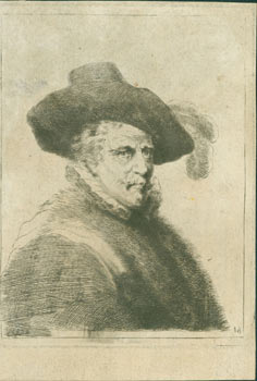 Portrait Of A Man Wearing A Feathered Hat]. Etching on laid paper. Thomas Worlidge
