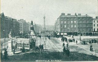 Sackville Street, Dublin. 19th Century Photographer