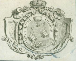 "Roman Catholic Coat Of Arms With The Motto ""Mane Thecel Phares."" 19th Century British Engraver?"