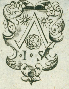Coat of Arms with initials I. S. Number 22 printed faintly on verso. 19th Century British Engraver?