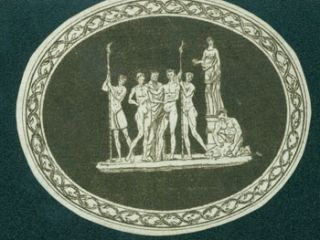 Engraving of an Ancient Greek Scene. 19th Century British Engraver?