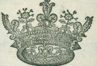 Decorative Crown. 17th Century British Engraver