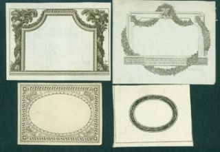 Four Engravings of Decorative Frames. 18th Century Italian Engraver?