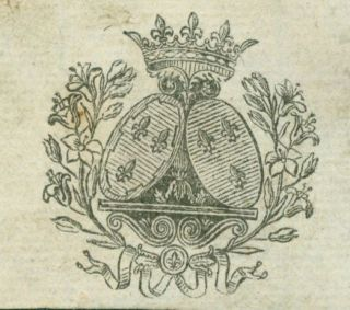 Coat Of Arms. 18th Century French Engraver?