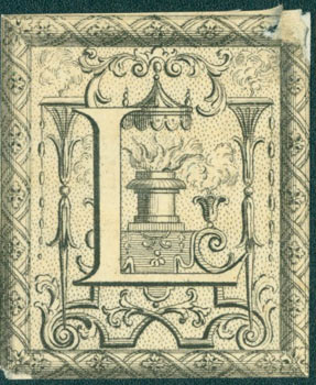 Decorative Capital Letter L, from The Gentleman's and London Magazine: Or Monthly Chronologer. On...