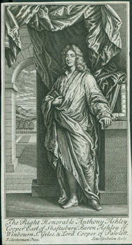 Anthony Ashley-Cooper, 3rd Earl of Shaftesbury. Line Engraving after Closterman painting from...