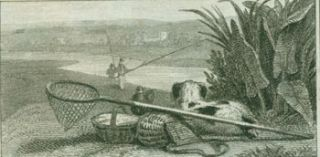 Fishing Scene With Dog. 19th Century British Engraver?