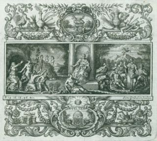 Triptych Engraving (for Anthony Ashley-Cooper, 3rd Earl of Shaftesbury.). Simon Gribelin, engrav