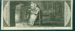 Even As The Matron, At Her Nightly Task. 18th Century British Engraver