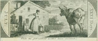 While The Full-Uddered Mother Lows Around. 18th Century British Engraver