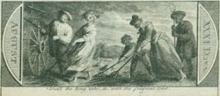 Trail The Long Rake, Or, With The Fragrant Load. 18th Century British Engraver