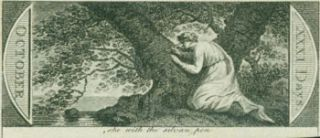 She With The Sylvan Pen. 18th Century British Engraver