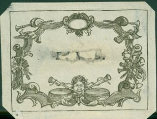 Decorative Border. 18th Century French Engraver?
